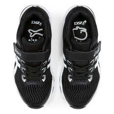 Asis GT 1000 8 Kids Running Shoes, Black / White, rebel_hi-res