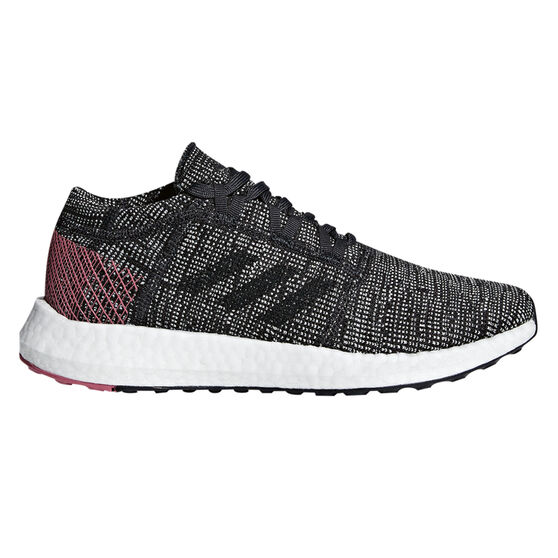 adidas Pureboost GO Womens Running Shoes, Black / White, rebel_hi-res