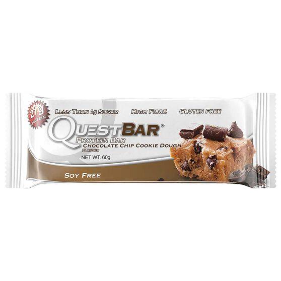 Quest Protein Bar 60G Choc Chip Cookie Dough Choc Chip Cookie Dough, , rebel_hi-res
