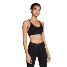 Nike Womens Dri-FIT Indy Padded Sports Bra Black XS, Black, rebel_hi-res