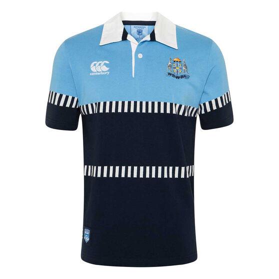 NSW Blues State of Origin 2020 Mens Vintage Rugby Jersey, Blue, rebel_hi-res