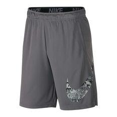 Nike Mens Dry Training Shorts Grey M, Grey, rebel_hi-res