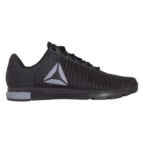 Reebok Speed Trainer Flexweave Mens Training Shoes Black / Grey US 7, Black / Grey, rebel_hi-res