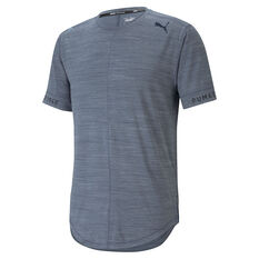Puma Mens Cloudspun Short Sleeve Training Tee Blue XS, , rebel_hi-res