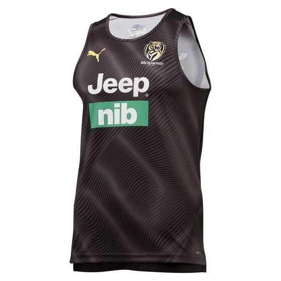 Richmond Tigers 2020 Mens Training Singlet, Black, rebel_hi-res
