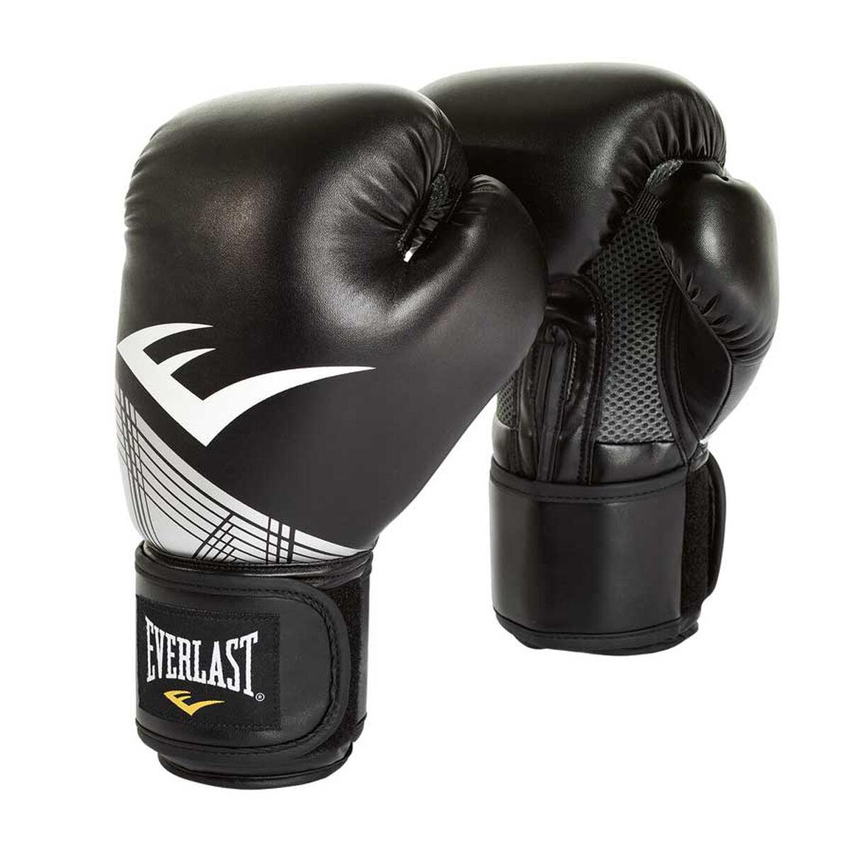 Everlast Pro Style Advanced Training Boxing Gloves Black Silver