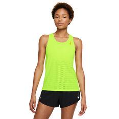Nike Womens AeroSwift Running Tank Green XS, , rebel_hi-res