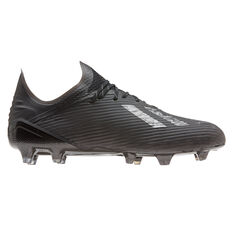 adidas X 19.1 Football Boots Black US Mens 11 / Womens 12, Black, rebel_hi-res