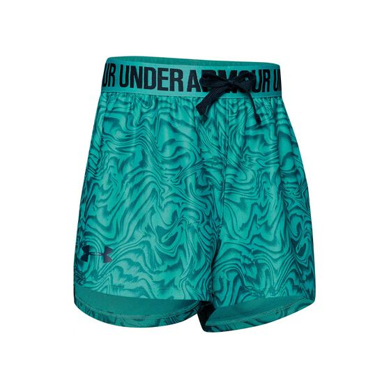 Under Amour Girls Play Up Printed Shorts Blue XL, Blue, rebel_hi-res