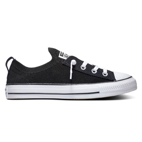 Converse Chuck Taylor All Star Shoreline Knit Low Top Womens Casual Shoes, Black / White, rebel_hi-res