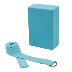 Celsius Yoga Block And Strap Combo, , rebel_hi-res