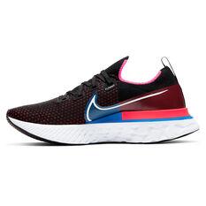 Nike React Infinity Run Flyknit Mens Running Shoes Black/Yellow US 7, Black/Yellow, rebel_hi-res