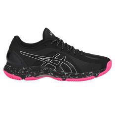 Asics Netburner Super FF Womens Netball Shoes Black US 7, Black, rebel_hi-res
