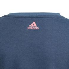 Adidas Girls VF Essential Logo Sweatshirt, Navy, rebel_hi-res