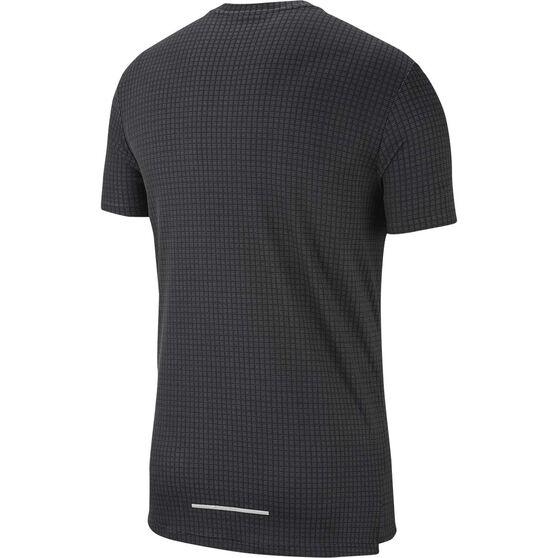 Nike Mens Miler Tech Running Tee, Black, rebel_hi-res