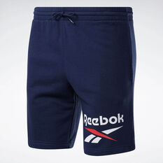 Reebok Mens Big Logo Shorts Navy XS, Navy, rebel_hi-res