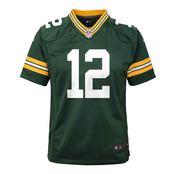 Green Bay Packers Aaron Rodgers 2020 Kids Jersey, Green, rebel_hi-res