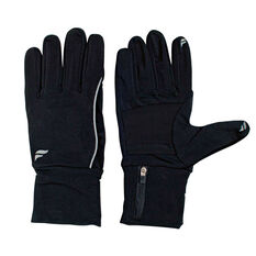 Fly Active Mens Running Glove Pocket Black L, Black, rebel_hi-res