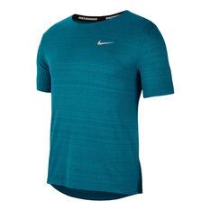 Nike Mens Dri-FIT Miller Running Tee Blue S, Blue, rebel_hi-res