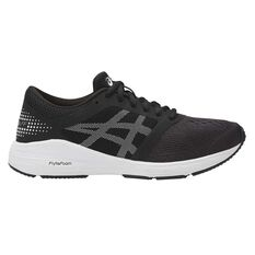 Asics Roadhawk FF Kids Running Shoes Black / White US 4, Black / White, rebel_hi-res