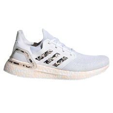 adidas Ultraboost 20 Womens Running Shoes White/Pink US 6, White/Pink, rebel_hi-res