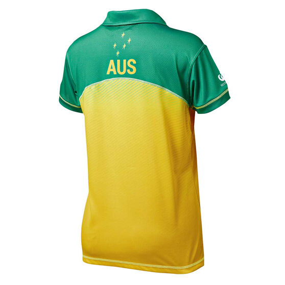 Australian Diamonds 2019 Womens Replica Polo, Gold / Green, rebel_hi-res