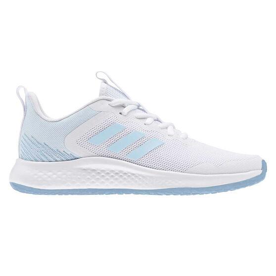 adidas Fluidstreet Womens Running Shoes, White/Blue, rebel_hi-res