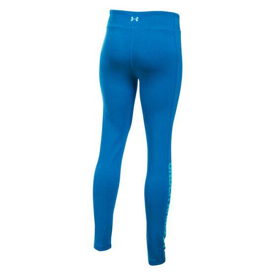 Under Armour Girls Fav Knit Graphic Legging Blue XS, Blue, rebel_hi-res