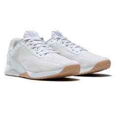Reebok Nano X1 Womens Training Shoes, White/Grey, rebel_hi-res