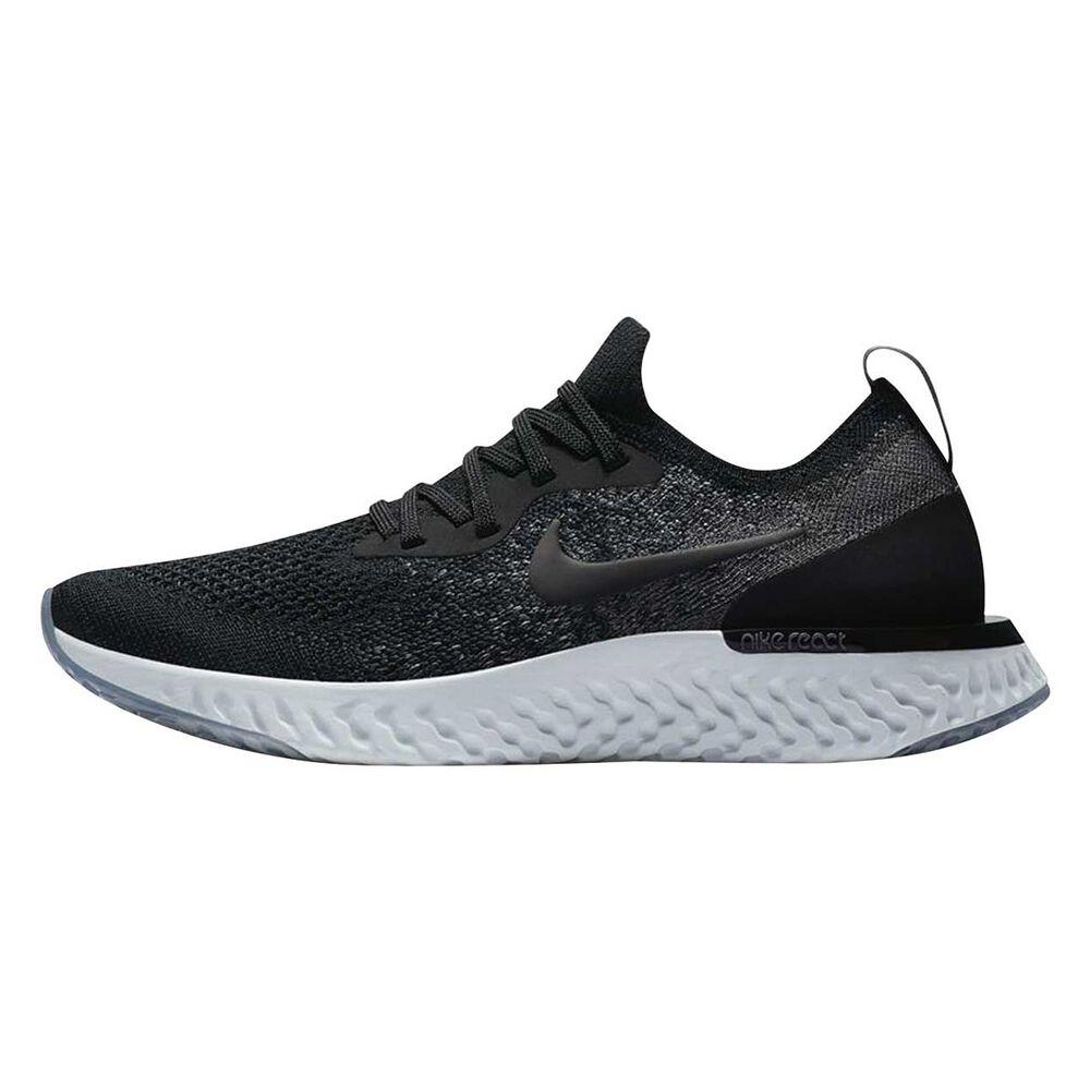 4ba0b48abe47 Nike Epic React Flyknit Kids Running Shoes Black / Grey US 4, Black / Grey
