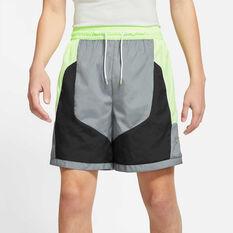 Nike Mens Throwback Basketball Shorts Grey S, Grey, rebel_hi-res