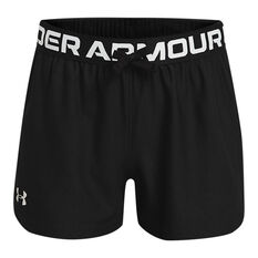 Under Armour Girls Play Up Shorts Black XS, Black, rebel_hi-res