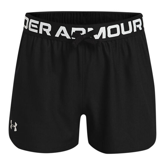 Under Armour Girls Play Up Shorts, Black, rebel_hi-res