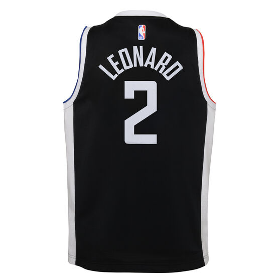 Nike Los Angeles Clippers Kawhi Leonard 2020/21 Kids City Edition Swingman Jersey, Black, rebel_hi-res
