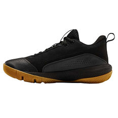 Under Armour SC 3ZERO IV Kids Basketball Shoes Black/Gum US 4, Black/Gum, rebel_hi-res