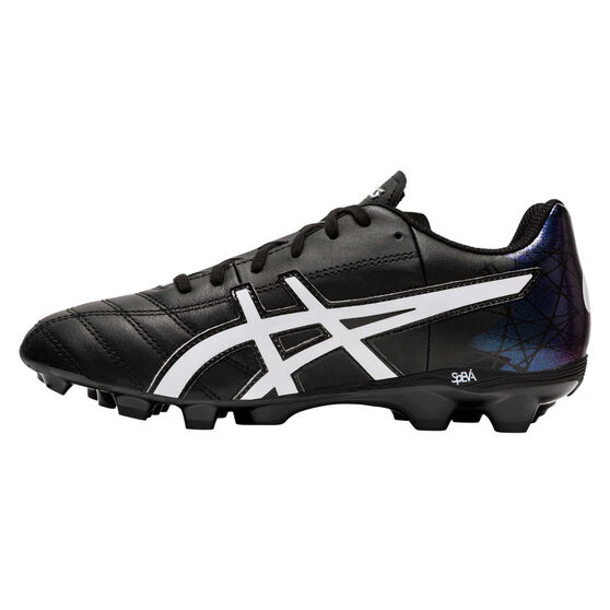 Asics Lethal Tigreor IT Kids Football Boots, Black / White, rebel_hi-res