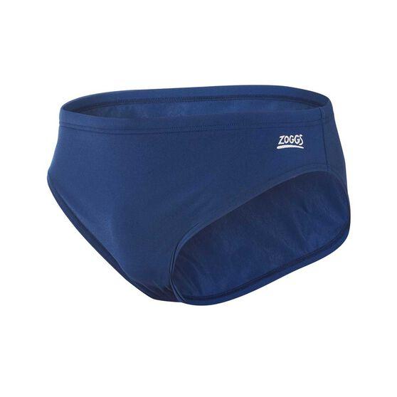 Zoggs Mens Cottesloe Racer Swim Brief Blue 24, Blue, rebel_hi-res