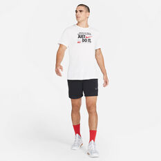 Nike Mens Dri-FIT Just Do It Verbiage Training T-Shirt, White, rebel_hi-res