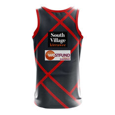 St George Illawarra Dragons 2019 Mens Preseason Training Singlet Grey / Red S, Grey / Red, rebel_hi-res