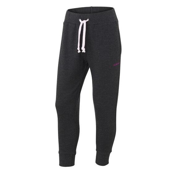 Ell & Voo Girls Harper Fleece Pants, Black, rebel_hi-res