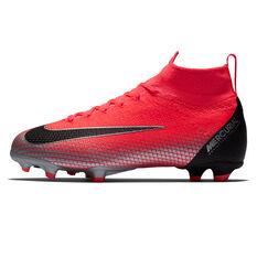 Nike Mercurial Superfly 6 Elite CR7 Junior Football Boots Red / Black US 4, Red / Black, rebel_hi-res