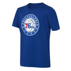 Philadelphia 76ers Short Sleeve Cotton Tee Blue / White L, Blue / White, rebel_hi-res