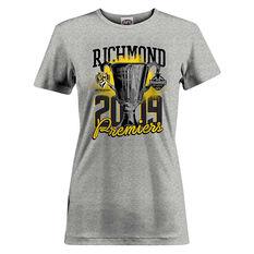 Richmond Tigers Premiers 2019 Womens Tee Grey 8, Grey, rebel_hi-res