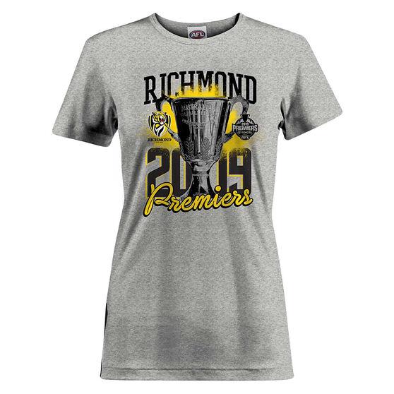 Richmond Tigers Premiers 2019 Womens Tee Grey 10, Grey, rebel_hi-res