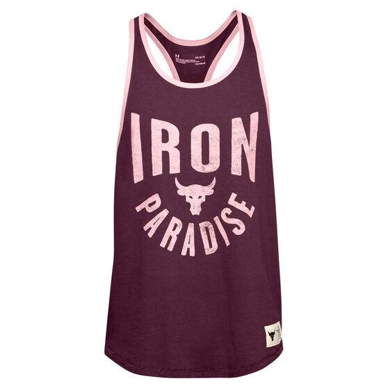 Under Armour Mens Project Rock Iron Paradise Tank, Purple, rebel_hi-res