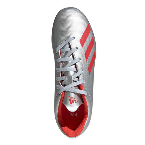 adidas X 19.4 Kids Football Boots, Silver / Red, rebel_hi-res