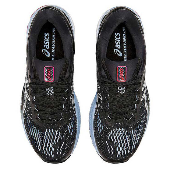 Asics GEL Kayano 26 Womens Running Shoes Black / Blue US 11, Black / Blue, rebel_hi-res