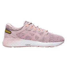 Asics Roadhawk FF 2 MX Womens Running Shoes Pink/White US 6, Pink/White, rebel_hi-res