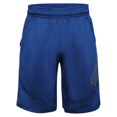 Under Armour Mens SC30 Underrated Basketball Shorts Blue XS, Blue, rebel_hi-res