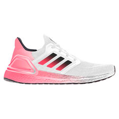 adidas Ultraboost 20 Mens Running Shoes White/Black US 7, White/Black, rebel_hi-res